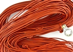 1.5mm Premium Greek Leather Cord - Sold by 1 Yard / 3 Feet - Orange