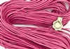1.5mm Premium Greek Leather Cord - Sold by 1 Yard / 3 Feet - Pink