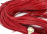 1.5mm Premium Greek Leather Cord - Sold by 1 Yard / 3 Feet - Red