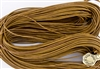 1.5mm Premium Greek Leather Cord - Sold by 1 Yard / 3 Feet - Rust