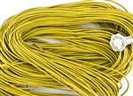 1.5mm Premium Greek Leather Cord - Sold by 1 Yard / 3 Feet - Yellow
