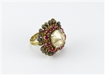 Limited Edition Bead Embroidery Ring Kit - Bellini - Swarovski Rivoli + Fuchsia