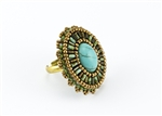 Limited Edition Bead Embroidery Ring Kit - Greece - Turquoise