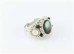 Limited Edition Bead Embroidery Ring Kit - Moonlight - Labradorite