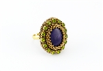 Limited Edition Bead Embroidery Ring Kit - Violet and Moss - Purple Jade