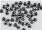 6mm Flat Lentils CzechMates Czech Glass Beads - Hematite Metallic L5