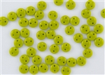 6mm Flat Lentils CzechMates Czech Glass Beads - Olive / Chartreuse Opaque L16