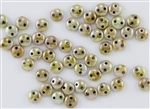 6mm Flat Lentils CzechMates Czech Glass Beads - Opaque Green Luster L17