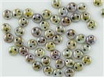 6mm Flat Lentils CzechMates Czech Glass Beads - Opaque Green Ultra Luster L18
