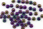 6mm Flat Lentils CzechMates Czech Glass Beads - Iris Purple Metallic L21