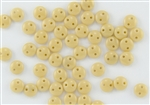 6mm Flat Lentils CzechMates Czech Glass Beads - Beige Opaque L22
