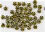 6mm Flat Lentils CzechMates Czech Glass Beads - Olive Chartreuse Bronze Picasso L25