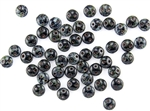 6mm Flat Lentils CzechMates Czech Glass Beads - Jet Black Picasso L31