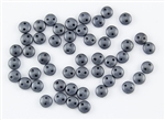 6mm Flat Lentils CzechMates Czech Glass Beads - Matte Metallic Hematite L36