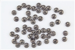 6mm Flat Lentils CzechMates Czech Glass Beads - Ashen Grey Moon Dust L47