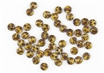 6mm Flat Lentils CzechMates Czech Glass Beads - Opaque Lt Beige Picasso L75