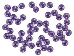 6mm Flat Lentils CzechMates Czech Glass Beads - Transparent Tanzanite L77