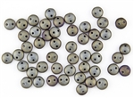 6mm Flat Lentils CzechMates Czech Glass Beads - Iris Brown Metallic Matte L85