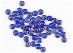 6mm Flat Lentils CzechMates Czech Glass Beads - Ultramarine Blue Halo L96