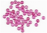 6mm Flat Lentils CzechMates Czech Glass Beads - Candy Pink Halo L99