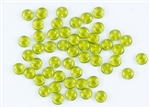 6mm Flat Lentils CzechMates Czech Glass Beads - Olivine Transparent L110
