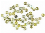 6mm Flat Lentils CzechMates Czech Glass Beads - Aquamarine Celsian L112