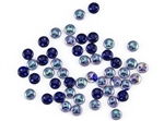 6mm Flat Lentils CzechMates Czech Glass Beads - Cobalt Celsian L113
