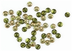 6mm Flat Lentils CzechMates Czech Glass Beads - Olivine Copper Luster L114