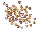 6mm Flat Lentils CzechMates Czech Glass Beads - Luster Pink 1/2 Coat Alexandrite L115