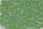 9x14mm Czech Beads Pressed Glass Leaves - Milky Jade Opal