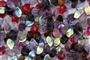 9x14mm Czech Beads Pressed Glass Leaves - Purple Vineyard Mix