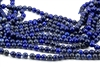 6mm Natural Lapis Lazuli Faceted Round Beads