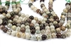 10mm Natural Lodolite Quartz / Garden Quartz Gemstone Round Beads