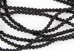4mm Natural Black Lava Stone Round Beads