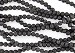 6mm Natural Black Lava Stone Round Beads