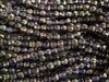 5mm Corrugated Melon Round Czech Glass Beads - Amethyst Celsian