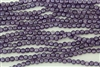 5mm Corrugated Melon Round Czech Glass Beads - Coated Satin Lavender