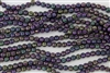 5mm Corrugated Melon Round Czech Glass Beads - Shiny Iris Purple Metallic