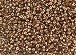 3.4mm Drop Miyuki Japanese Seed Beads - Crystal Capri/Apollo Gold