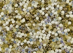 3.4mm Drop Miyuki Japanese Seed Beads - Honey Butter Mix