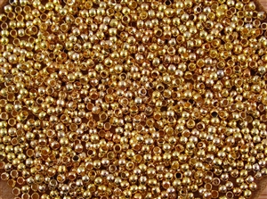 Crimp Beads 2.5mm Shiny Gold Plated Metallic