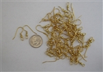 50 x 20mm Fishhook Earwires Gold Plated Surgical Steel
