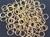 Open Jump Rings 7mm 20G - Brass Plated Metallic