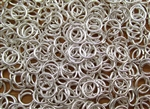 Open Jump Rings 7mm 19G - Silver Plated Metallic