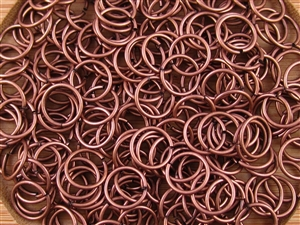 Open Jump Rings 10mm 18G - Slight Antique Copper Finish