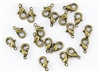 Lobster Claws Clasps 10mm - Antique Brass