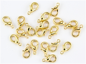 Lobster Claws Clasps 15mm - Gold