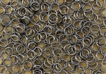 Split Ring Rings 6mm 22G - Gun Metal Grey Hematite Metallic