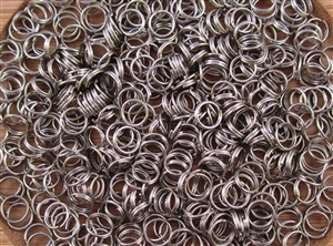 Split Ring Rings 6mm 22G - Shiny Nickel Metallic