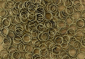 Split Ring Rings 7mm 22G - Antique Brass